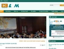 Website Công ty đạo tạo kế toán CKM