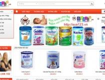 Website bán hàng sữa các loại