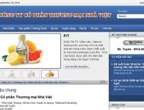 Website Công ty CP Thương mại Nhà Việt