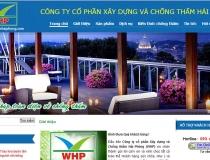 Website Công ty cổ phần xây dựng và chống thấm Hải Phòng