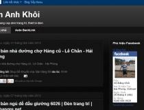 Website cá nhân - web blog Ankomart