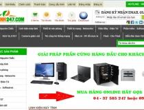Website Công ty CP Đầu tư TM và DV máy tính 247