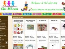 Website Shop Đồ chơi trẻ em 365
