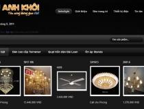 Website Đèn trang trí Anh Khôi